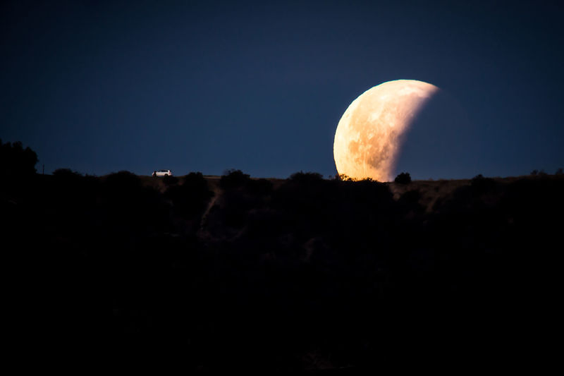 2018 January Orange Scale  Setting Super Astronomy Blood Blue Clear Sky Crescent Full Moon Low Angle View Moon Moon Set Moon Surface Nature Night Planet Planetary Moon Silhouette Sky Space Super Blue Blood Moon