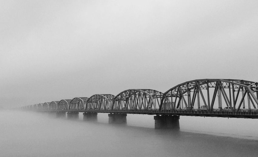Bridge - Man Made Structure Japan 徳島県 Fog Foggy Bridge