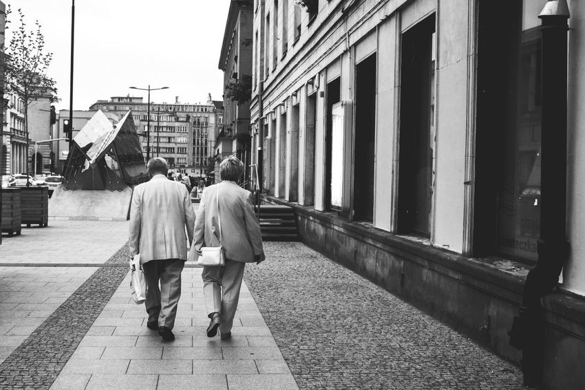 Walk with me Couple Old Couple Old People Love Lover Marriage  Husband Grandma Grandpa Grandparents Longlasting People People Photography Streetphotography Street Photography Black And White Bnw_friday_eyeemchallenge