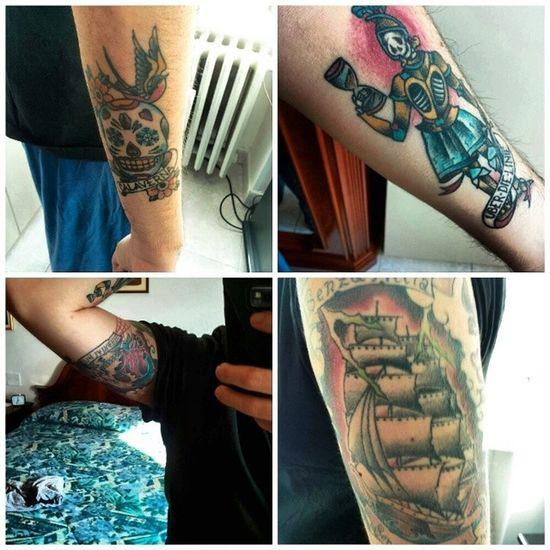 I miei tatuaggi / My Tattoos Tatuaggio Tatuaggi  Me Love Boy Tattoos Tattoo Tattoosofinstagram Tattooart Tattoolife Inkedtattoo Tattooist Tattoooftheday Oldschooltattoo Calavera  Calaveras Teschiodizucchero Ship Nave Rondine Swallow