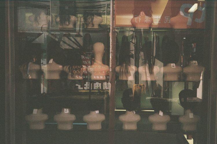 ASIA Asian  Asian Culture Black Creepy Darkness Display Display Dummies Display Window Displays Dummy Dummy Heads Hairs No People Shelf Shop Shopwindow Shopwindows Show Window Show Windows Strange Taiwan Weird Wig Wigs