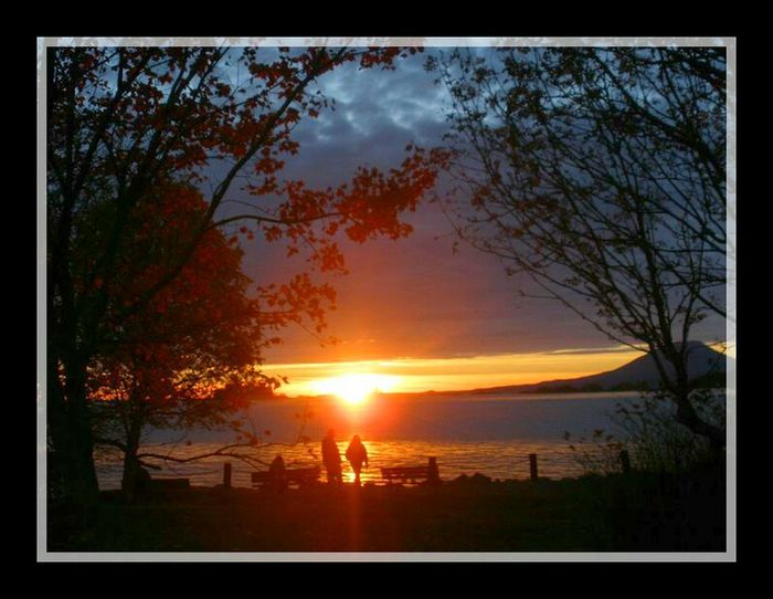 This picture was taken in Sitka Alaska.... my old home town. SitkaAlaska Sunset Silhouettes Sunsets Ak Way