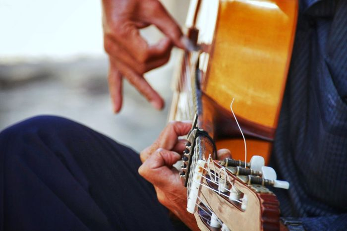 Arts Culture And Entertainment Musical Instrument Skill  One Man Only Music One Person Only Men Working Human Hand Adults Only Musician Adult Factory Human Body Part People Workshop Guitar Indoors  Close-up Day SPAIN Pollença (Mallorca) Mallorca