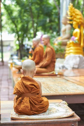 EyeEm Selects Religion Place Of Worship Outdoors Monk  Meditation Peaceful Buddhism Sitting Boy Cute Sweet First Eyeem Photo Mix Yourself A Good Time The Week On EyeEm