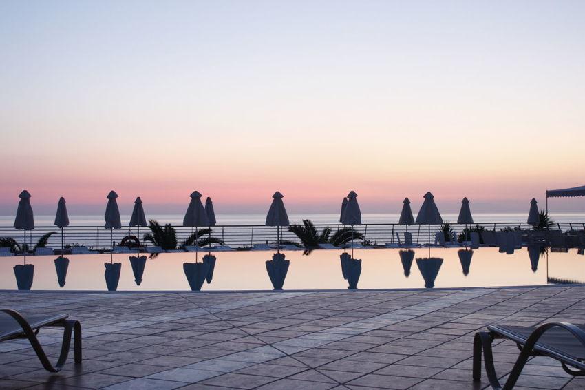 Horizon Over Water Island Of Adventure Sea Sunrise Swimming Pool