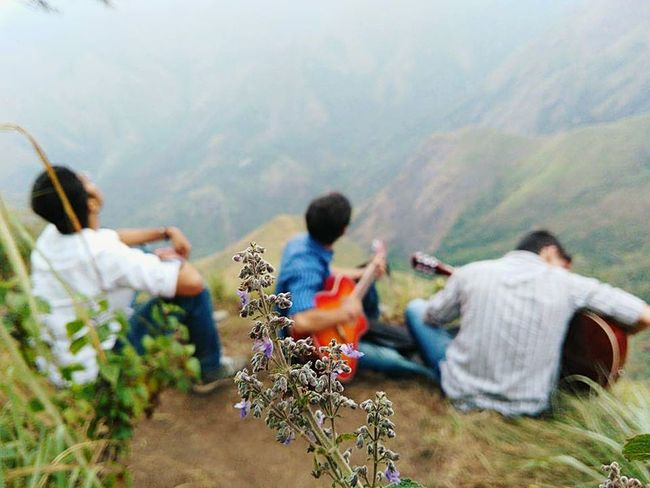 Music in the background.. Beauty in front Nature Togetherness Friendship Mountain Outdoors Beauty In Nature Bookeh EyeEmNewHere