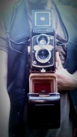Yashica 635 New Toy Medium Format Camera 120 Film Camera & 35mm Camera Leather Vest Having Fun Taking Pictures South Carolina