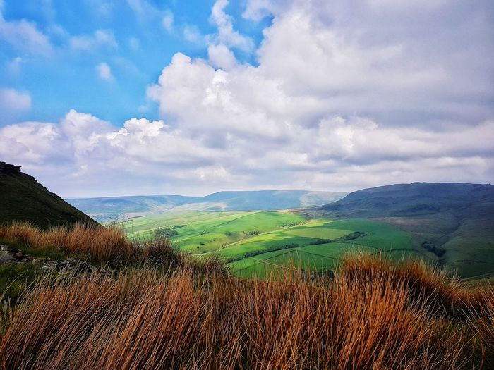 Nature Cloud - Sky Beauty In Nature Scenics Outdoors Rural Scene No People Freshness Agriculture Field Sky Landscape Growth Tea Crop Mountain Day Cereal Plant Tree