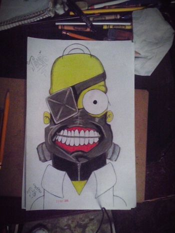 La Mente Detras Del Lapiz Dibujo A Lapiz Dibujo Homero Simpson Tokio Goul Drawing Drawingtime Draw Art, Drawing, Creativity ArtWork