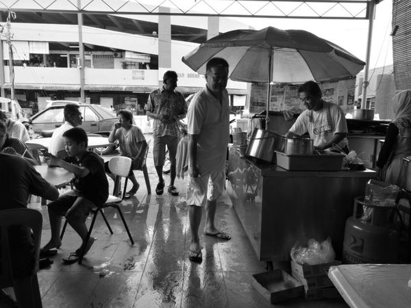 Blackandwhite Photography Men Person Lifestyles Casual Clothing Relaxation Black & White Blackandwhite Black And White HuaweiP9 Traditional Huaweiphotography Huawei People Daily Life Coffee Shop Coffee Shop Scene Malaysia People And Places Monochrome Photography Enjoy The New Normal