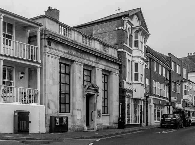 Former National Westminster Bank, High Street, Ventnor, Isle of Wight Bank Banks Ventnor Black And White Isle Of Wight  Monochrome Architecture