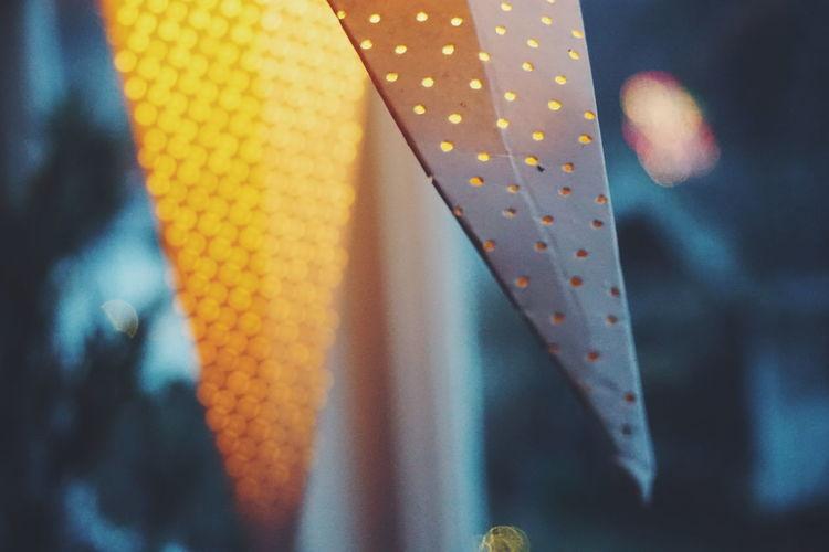 Close-up of illuminated lantern
