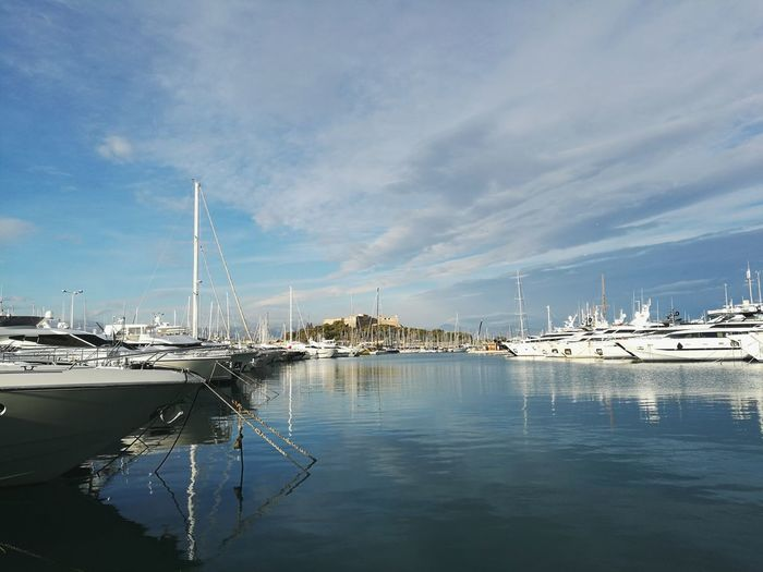 Sea Water No People Travel Destinations Sailboat Cloud - Sky Outdoors Tranquility Vacations Day France Francia Antibes Antibes Port