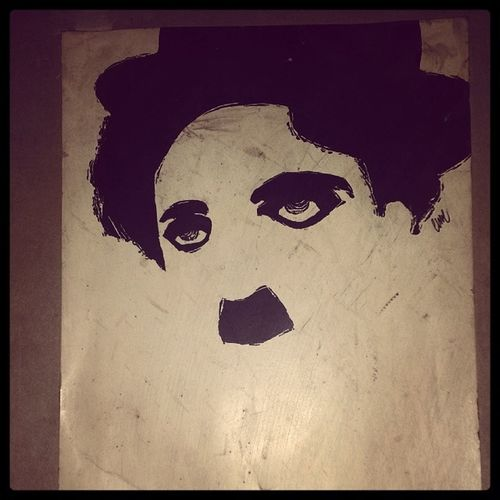 Charlie Chaplin Stache Awesome Sketch Blackandwhite