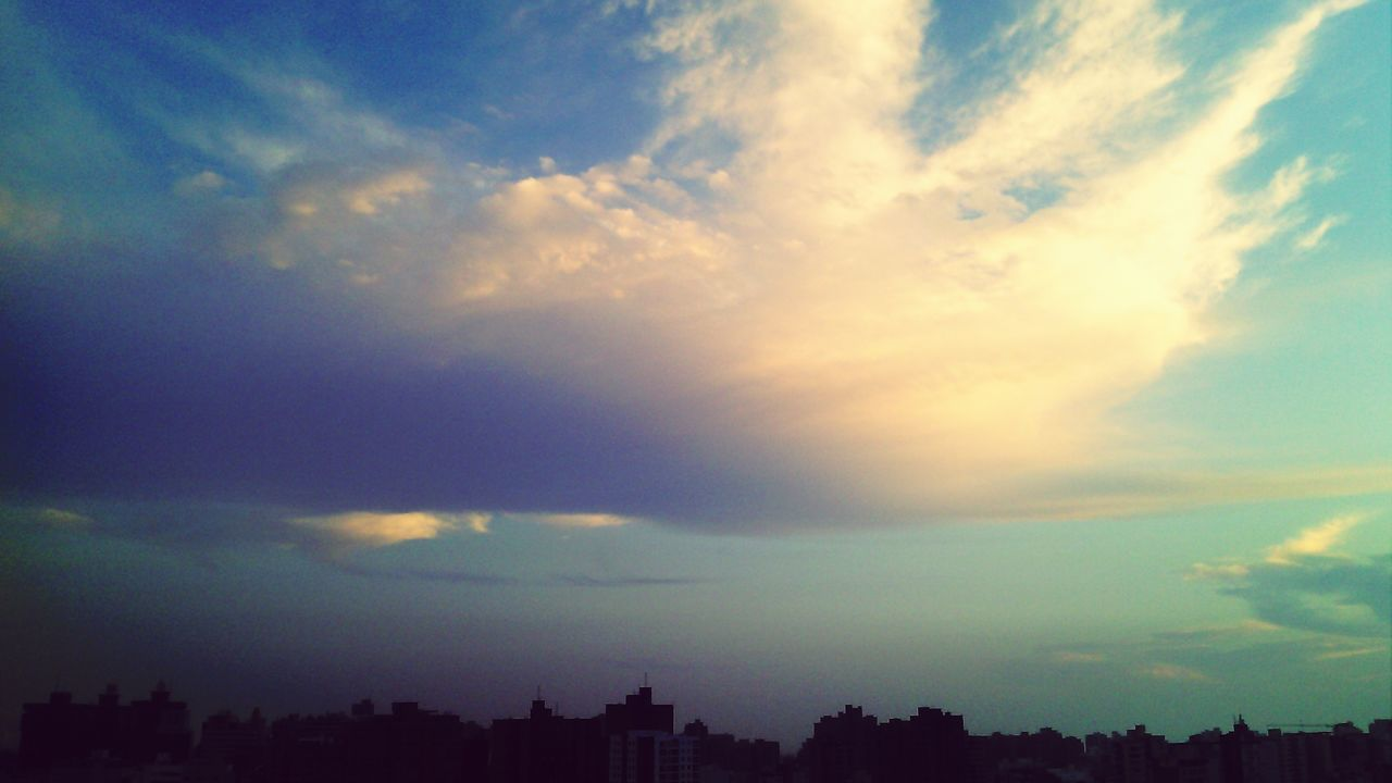 sky, cloud - sky, no people, beauty in nature, nature, building exterior, architecture, scenics, sunset, cityscape, skyscraper, outdoors, storm cloud, city, day