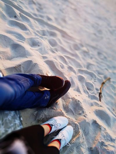 Friendship Love ♥ Shose😜 Sea And Sky Day Low Section