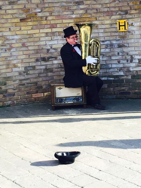 Something different everyday! There were flames coming out his tuba as well! Random Tuba Crystal Palace London
