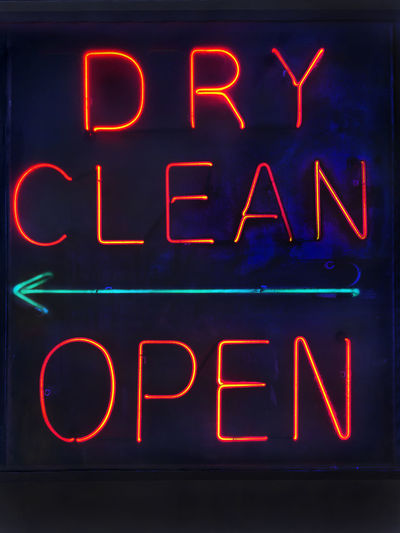 Dry cleaners neon sign, Denver CO Arrow Capital Letter Colorado Denver Denver,CO Dry Clean Glowing Illuminated Information Sign Neon Neon Lights Neon Sign Night No People Open Sign OpenEdit Relaxing Sign Text United United States