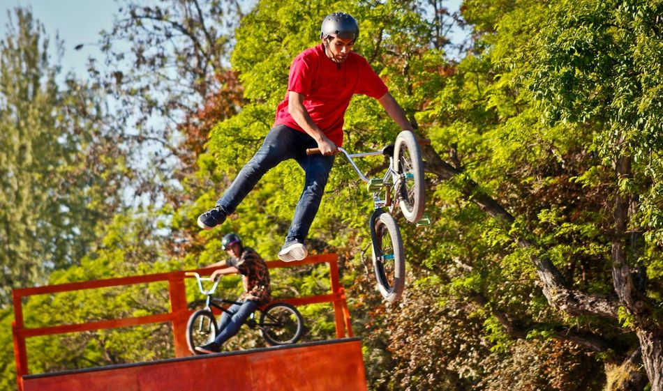 The Moment - 2015 EyeEm Awards Jump session. Bikers Bikepark Jump Extreme Sports