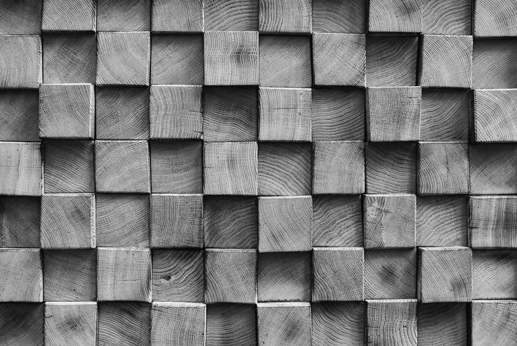 Full frame shot of wooden block shape