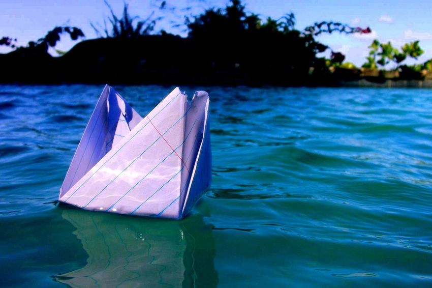 Arts And Crafts Artsy Creativity Day Escapism Floating On Water Lake Origami Outdoors Paper View Protection Rain Reflection Rippled Season  Side View Summer Swimming Tropical Climate Umbrella Vacation Water Waterfront Landscapes With WhiteWall Macro Beauty