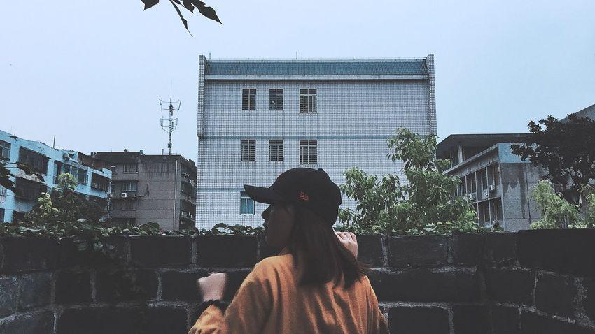 Girl Building Exterior Old Buildings People friend