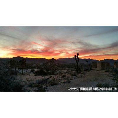 Sunset over Ryan Ranch Rurex Ryanranch Joshuatree Mojave Sunset Desert Nature Clouds Twilight Epicsky