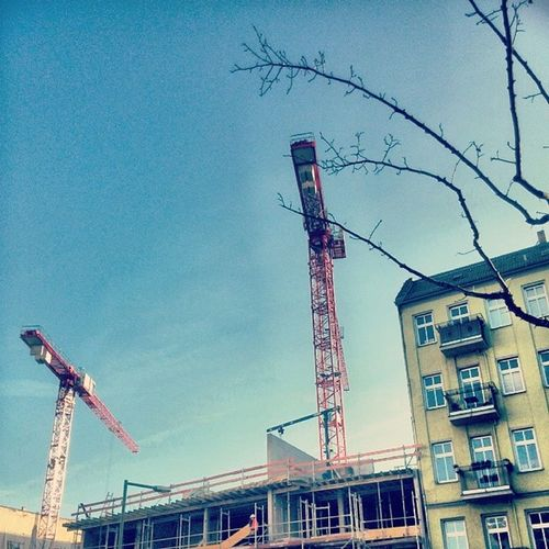 Berlin Workinprogress Gentrification Cranes