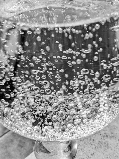 Water X Air Bubbles Sparkling Water Water Full Frame Close-up Bubble Glass Transparent Tonic Water