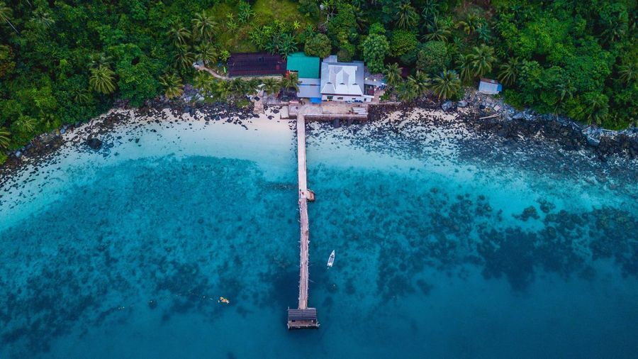 Aerial view of beautiful blue sea at Tinggi Island Dji Seascape Photography Seascape Dronephotography DJI Mavic Pro Birdeyeview Beachphotography Tree Nature Plant Day High Angle View Sea Turquoise Colored Outdoors Blue