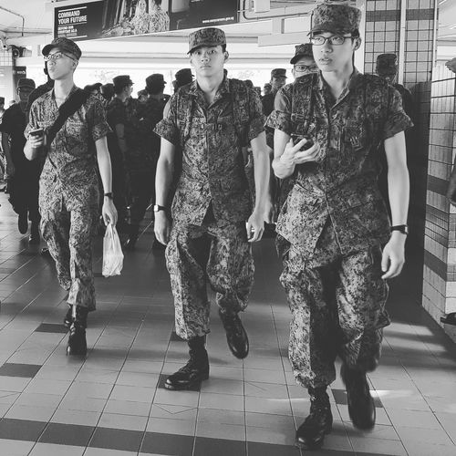 Streetphotography Sg_streetphotography Pasir Ris Bus Interchange NSmen Bnwphotography Bnwsingapore Bnwstreetphotography Going Into Camp Army Camp Singapore