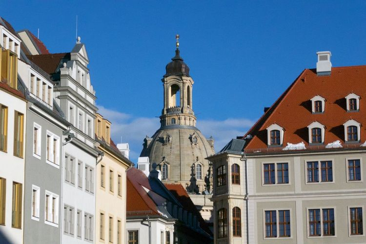 Building Exterior Architecture Built Structure Low Angle View Building Nature No People Travel Destinations Tower Spirituality Window Outdoors Place Of Worship City Frauenkirche Dresden