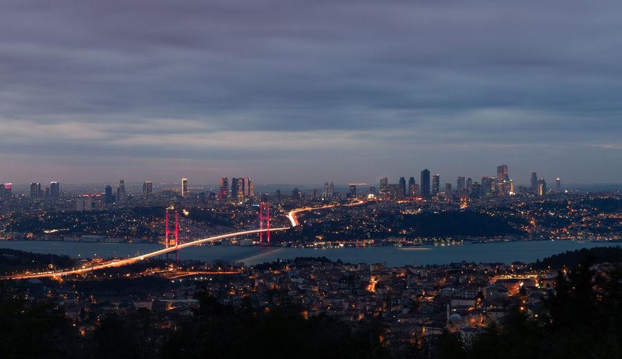 Bosphus bridge in istanbul city, turkey