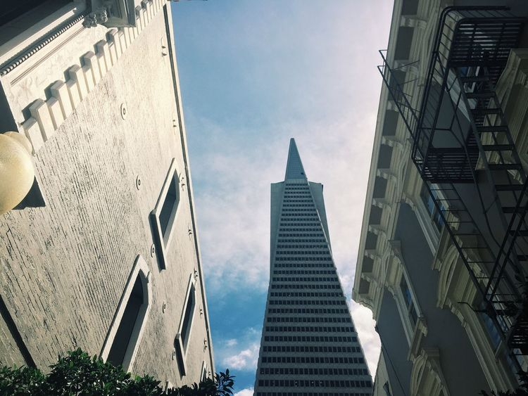 Architecture TransAmericaBuilding Transamerica Pyramid Sky From Below San Francisco
