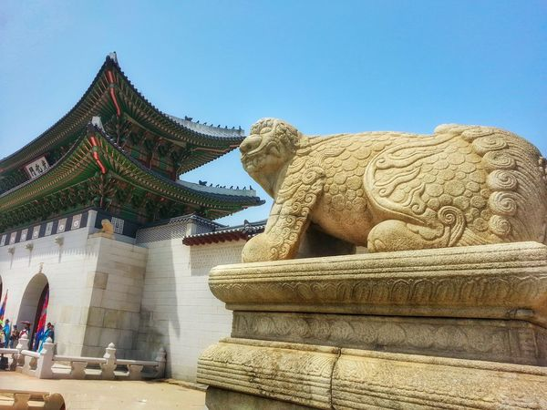 Haechi Gyeongbokgung Seoul Korea Statue Gate Travel Guardian