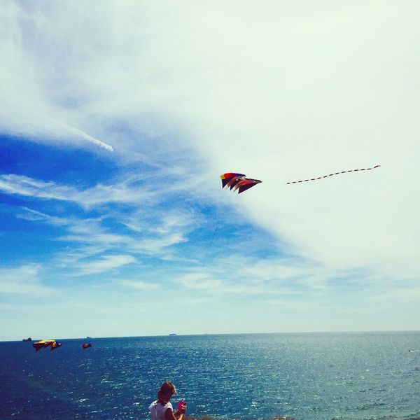 Brading Kite Bluesky Beach Sunday Isle Of Wight