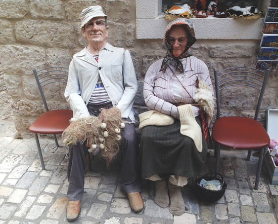 Croatian grandparents Chair Chairs Croatia Croatia ♡ Croatiafulloflife Croatian Doll Dolls Fisherman Fisherman Nets Fishing Grandma Grandpa Grandparents Human Representation Lifestyles Net Puppet Puppets Sitting Togetherness Trogir