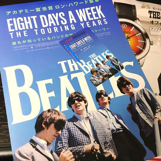 The Beatles EIGHT DAYS A WEEK Ron Howard 観に行ってよかったー!(*˙꒳˙*)‧⁺✧︎* ビーのシネマイレージ作った(*vωv) John Lennon Paul Mccartney George Harrison Ringo Starr Music Cinema