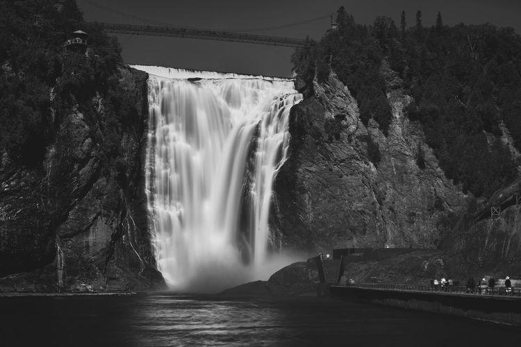 Montmorency Falls Black & White Fine Art Photography Quebec Black And White Blackandwhite Blackandwhite Photography Fine Art Landscape Long Exposure Water_collection Waterfall Waterfalls
