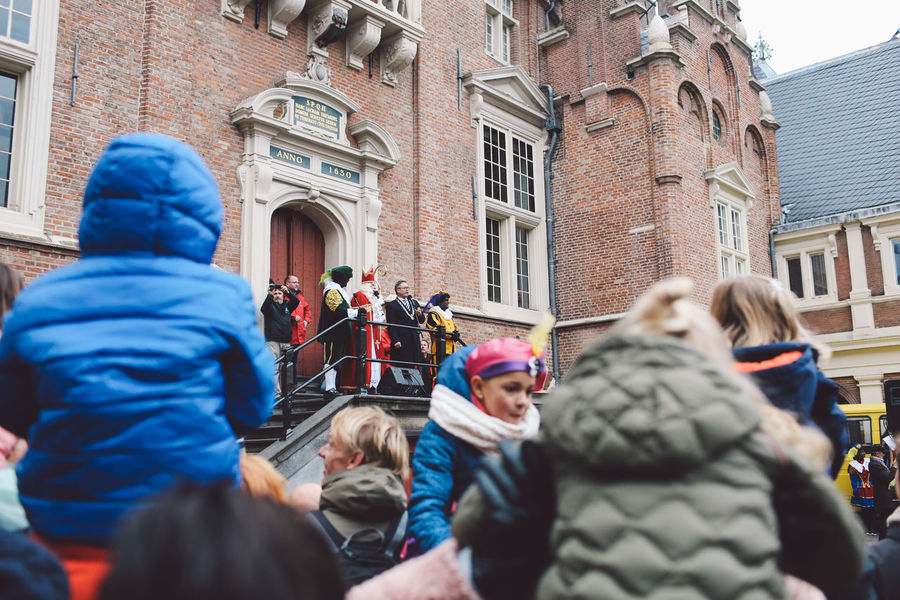 Architecture Building Exterior Built Structure Day Festival Festival Season Grote Markt Large Group Of People Men Netherlands Outdoors People Period Costume Real People Saint Nicholas Sint-Nicolaas Sinterklaas Togetherness Warm Clothing Women Zwarte Piet