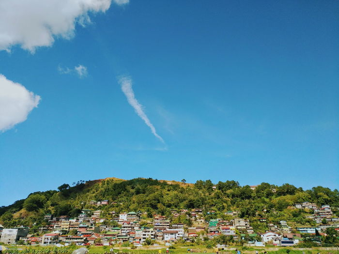 from afar. Nature Philippines Benguet Baguii City, Philippines Mobilephotography Farm Panorama Tree Vapor Trail Blue Sky Landscape Tranquil Scene Mountain Calm Mountain Road Countryside Tranquility The Great Outdoors - 2018 EyeEm Awards The Traveler - 2018 EyeEm Awards