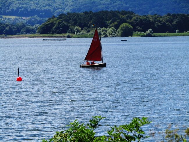 Sailing Boat On Lake Nature On Your Doorstep Summer Memories 🌄 Transportation Chewvalleylake Hills Background Taking Photos Walking Around The Lakes