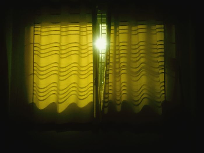 Vintage Window Night Light Downlights Lamp Curtain Lonely