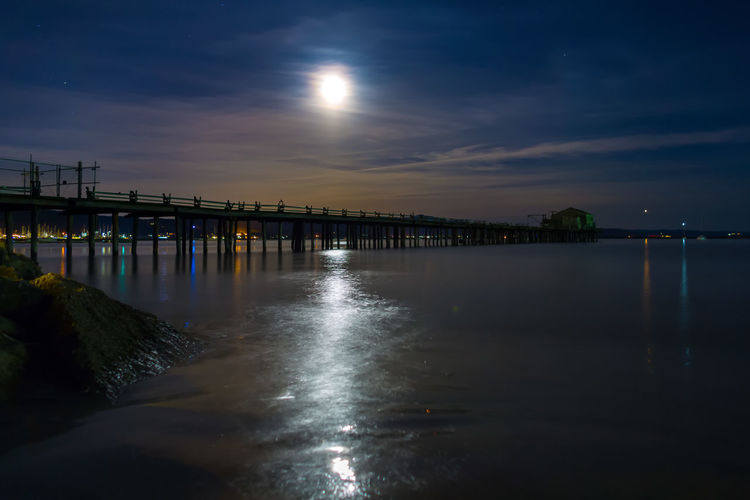 Half Moon Bay Harbor Nightphotography Pier Architecture Bay Beauty In Nature Jetty Long Exposure Nature Night No People Ocean Outdoors Reflection Scenics Sky Tranquil Scene Tranquility Water Waterfront