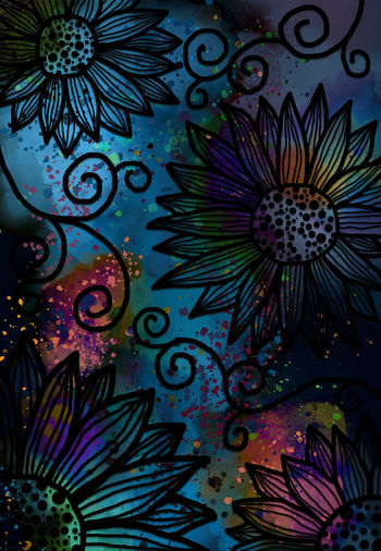 Abstract free hand drawing flower pattern and watercolor digital art painting grunge texture for background Drawing Doodle Art Cover Book FreehandDrawing Wallpaper Watercolor Painting Flower Summer Butterfly - Insect Beauty In Nature Decoration Water Nature Craft High Angle View Paint Floral Pattern Abstract Design Creativity Backgrounds Indoors  Close-up Full Frame No People Art And Craft Pattern Multi Colored Graffiti Indoors  The Creative - 2019 EyeEm Awards