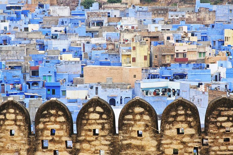 The wall of Mehrangarh. Mehrangarhfort Jodhpur Blue City Incredible India Rajasthan Blue Amazing Architecture Check This Out Cityscape