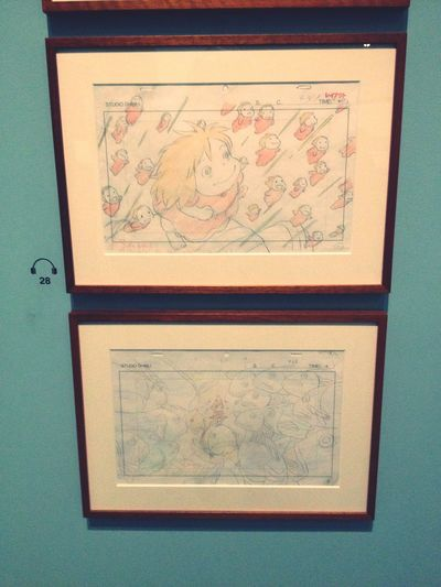 "Layout, chef-d'œuvre du dessin, de la main de Miyazaki du long métrage ""Ponyo sur la falaise"". ? Exhibition Art Museum ArtWork Drawing Layout Miyazaki Getting Inspired Being Cultured Absorbing"