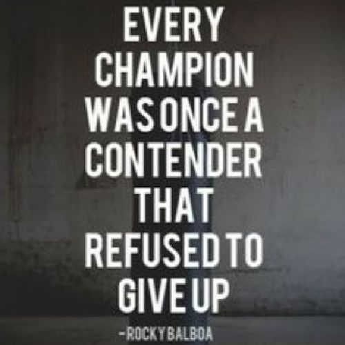 Never give up, you got this. Neversurrender NeverQuit Nevergiveup