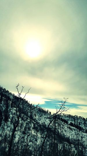 Its Cold Outside Pino Canyon Trail Newmexico Albuquerque Hiking❤ Snow ❄ Clouds And Sky Sunset Showcase: January