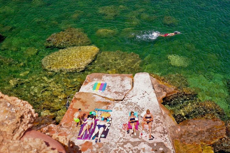 Bath Beach Bronzage Colour Of Life Mediterranean Sea Minorque Outdoors People On The Beach People Swimming See SPAIN Summer Bath Summertime Sunbathe Swimming Time Tranquil Scene Colour Of Life, The Week On EyeEm